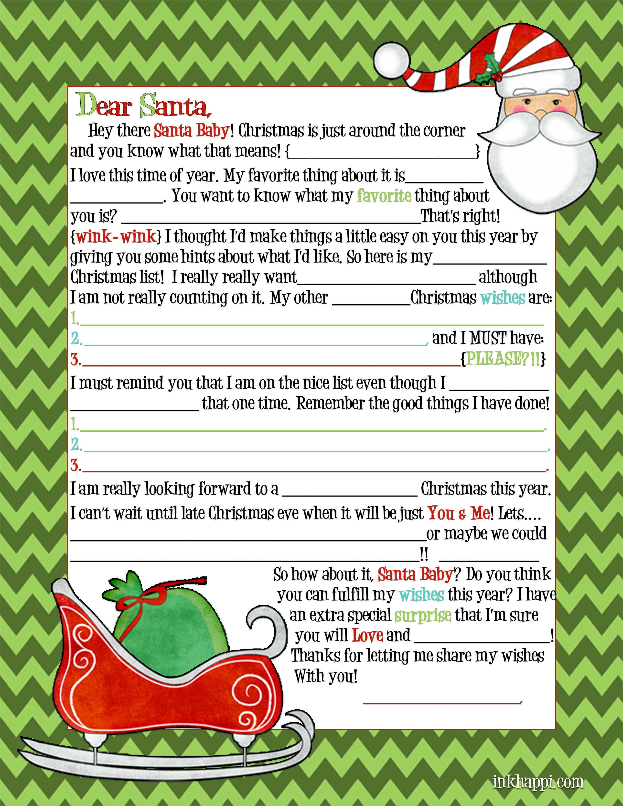 Santa Letter Adult
