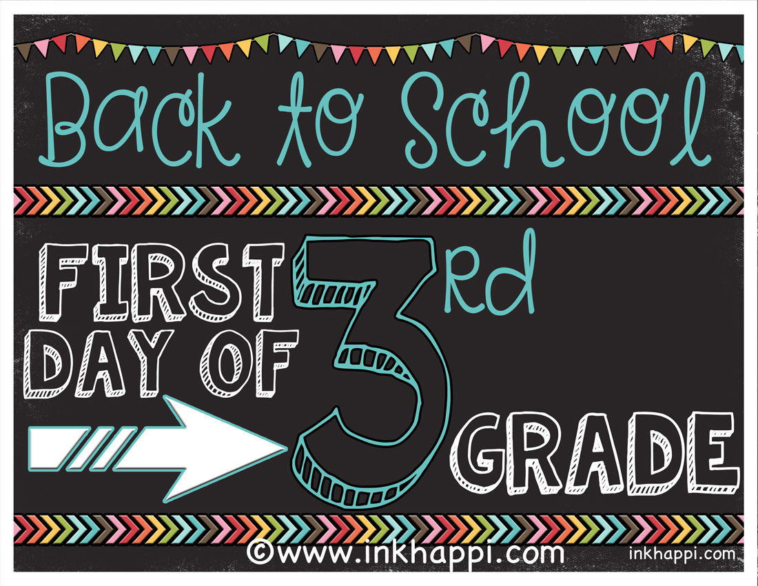 First Day Of School Photo Prop Signs Free Printables