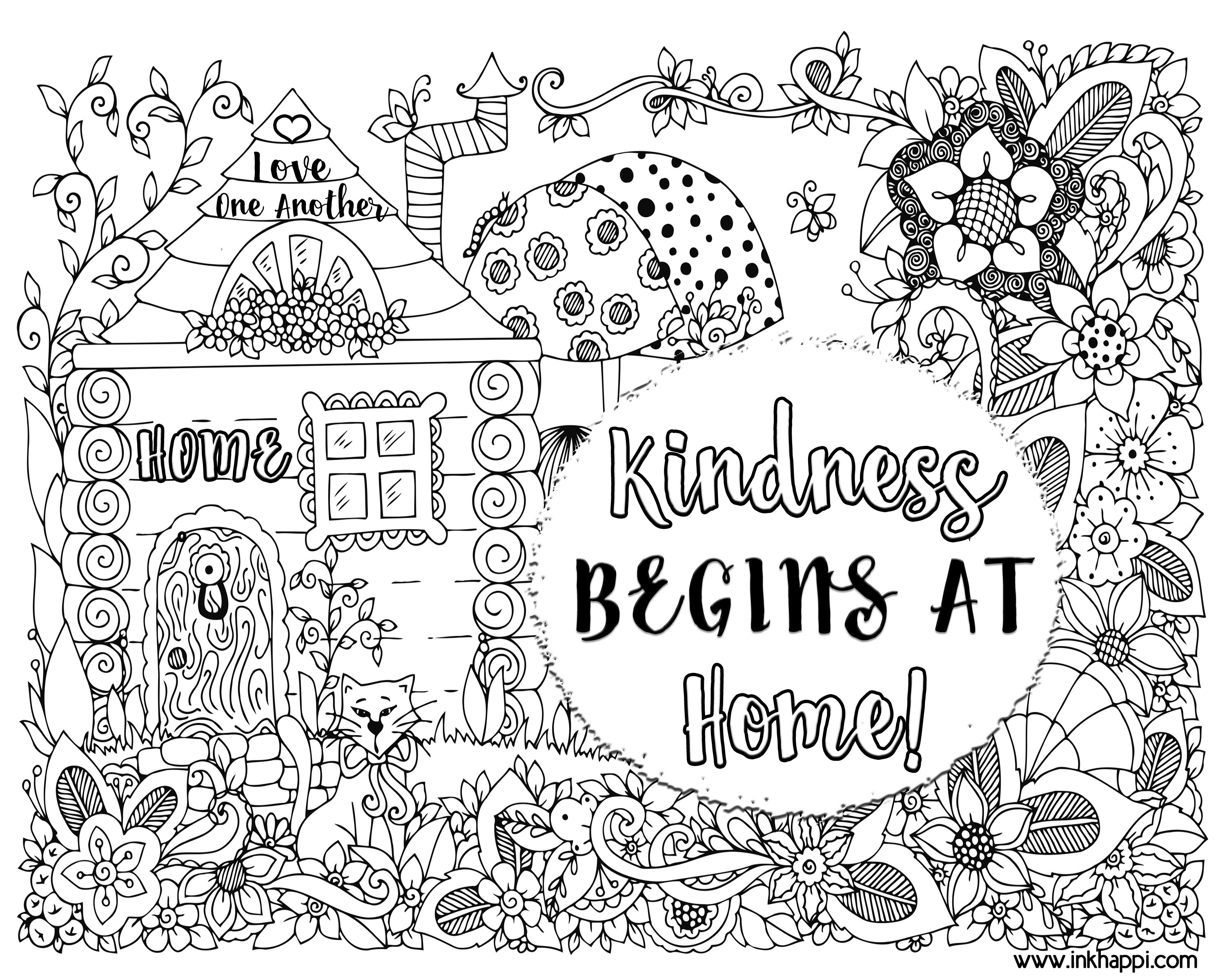 Kindness Begins At Home A Coloring Page And A Message