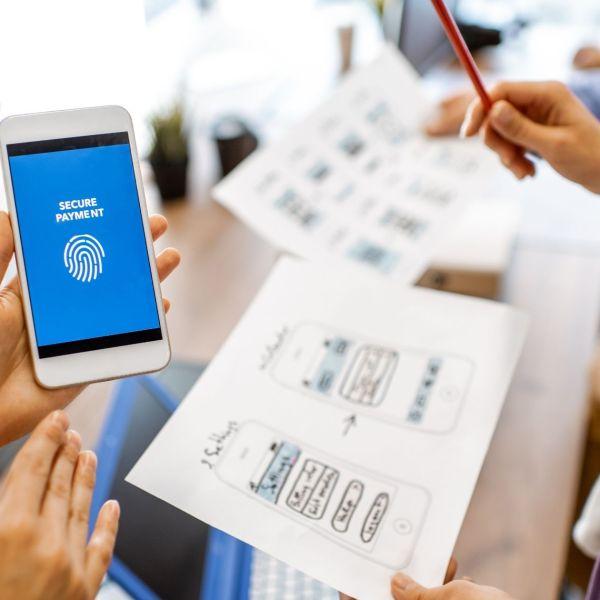 Mobile development using drag and drop mobile app builder