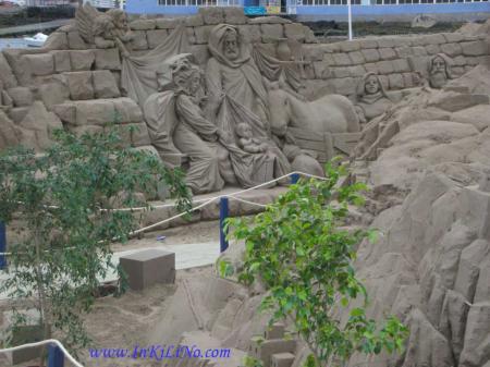 Belen de arena en Las Palmas