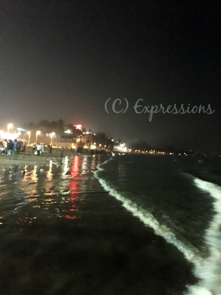juhu at night