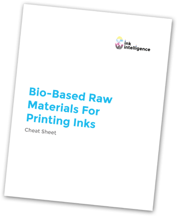 Bio-based raw materials for ink formulation cheat sheet