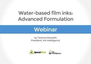 Water based film inks webinar
