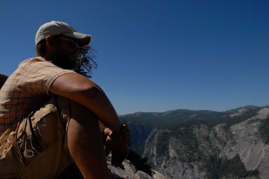D looking out from Glacier Point.