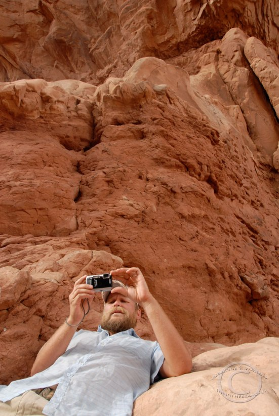 D trying to get it all in. Arches National Park, UT