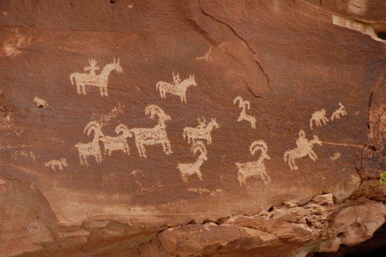 Sheep Hunt Ute Petroglyphs - Arches National Park
