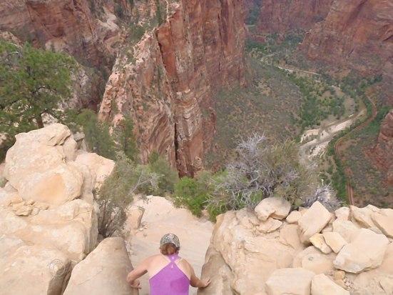 The hike down...still pretty intense. (Photo by D. R. J.)