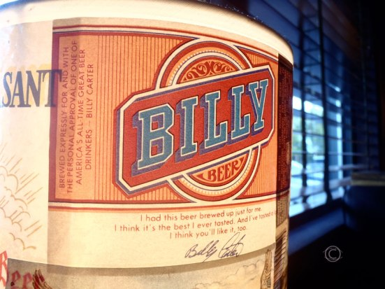 Billy Beer, as in Billy Carter, as in Jimmy Carter's brother.