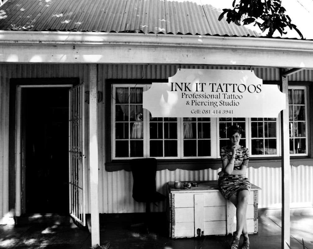 Liezel Jooste The Wiezy outside Ink It Tattoos Durban