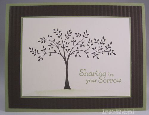 Sympathy Card Idea Ink It Up With Jessica Card Making