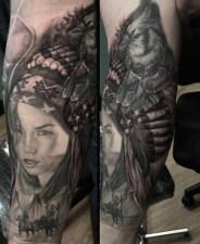 Tattoo by Javier Eastman. [Photo: Instagram/javiereastman]