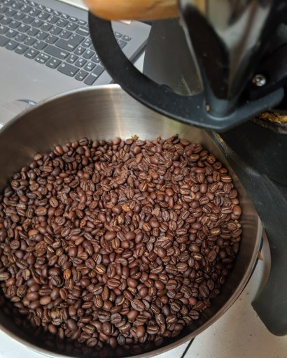 struggling through trial and error in coffee roasting