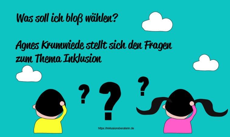 Agnes Krumwiede stellt sich den Fragen zum Thema Inklusion