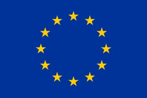 12 Sterne im Kreis auf blauem Grund, das ist die Flagge von Europa