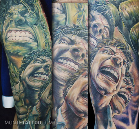 Hulk tattoo by Monte Agee