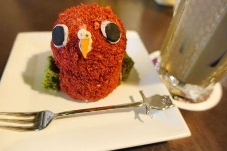 鳥のいるカフェ木場店のインコケーキ