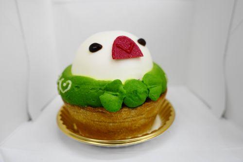 ことりカフェ表参道のふろしき文鳥ケーキ