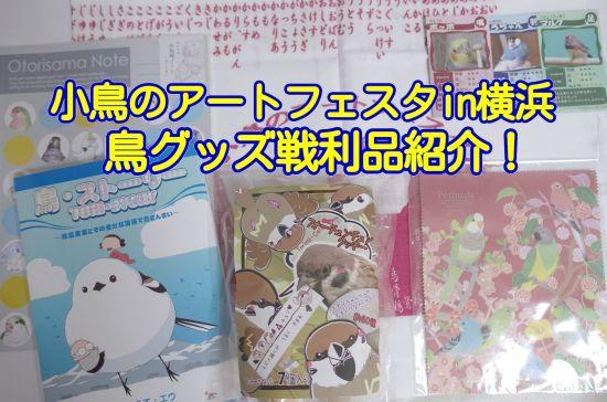 小鳥のアートフェスタin横浜の鳥グッズ戦利品紹介