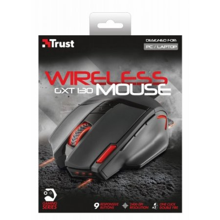 Mouse Large Wireless Ottico USB 2.0 GTX 130 Trust