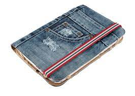 "Custodia/Stand 10"" in stoffa jeans Trust"