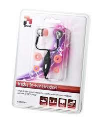 Cuffia + microfono Trust Indy Inear Headset col.rosa