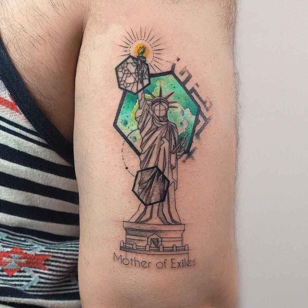 акварельные татуировки бариса есильбаса