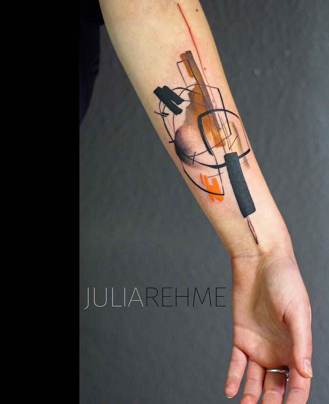Tattoo Artist Julia Rehme Watercolor Abstract Color