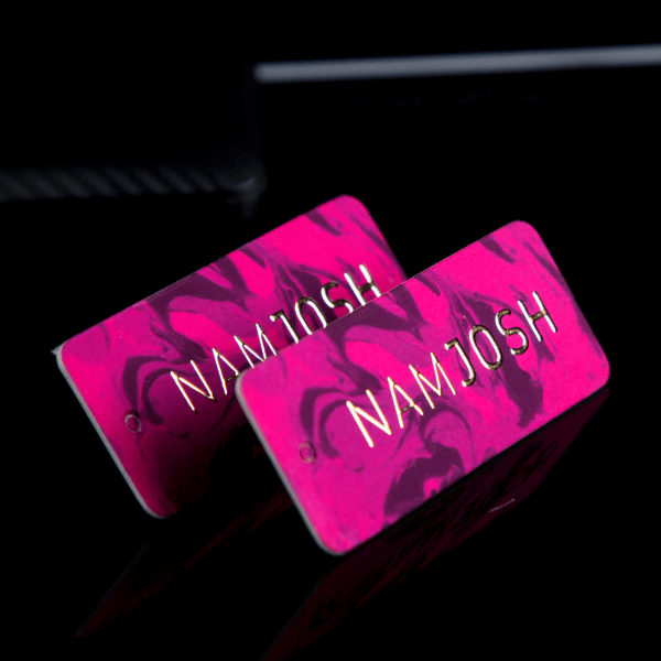 Embossed Foiling Hang Tags
