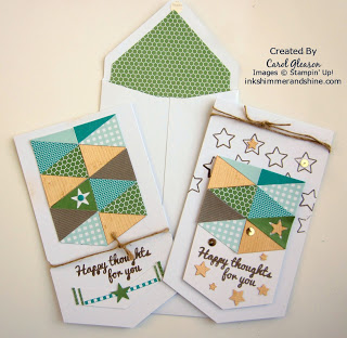 Geometrical cards from the 2015 June Paper Pumpkin kit