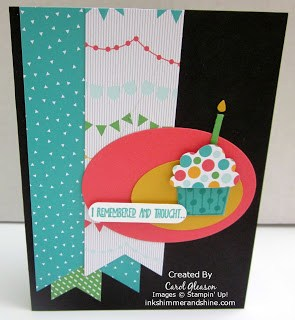 Black card base with Cherry on Top banners and a cheery cupcake.