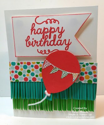 Happy Birthday Fringed card