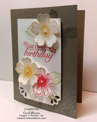 Birthday Blossoms card