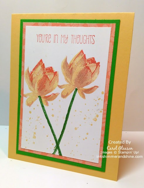 Lotus Blossom You're In My Thoughts Card