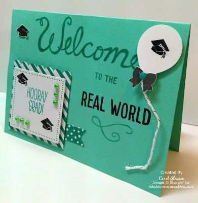 March 2016 Paper Pumpkin Graduation card in Coastal Cabana and Bermuda Bay
