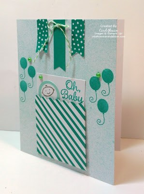 Stampin' Up! March 2016 Paper Pumpkin Baby Card