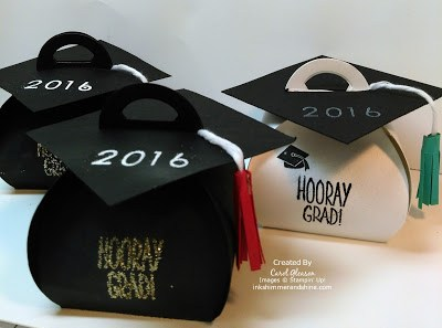 Curvy Keepsake Box Graduation Caps