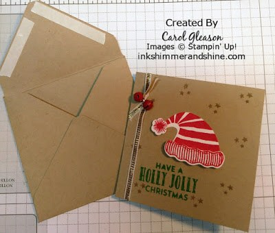 Photo of Holly Jolly Gift Card & Envelope