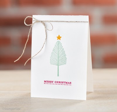 Photo of a Totally Trees card sample by Stampin' Up! on page 48 in the 2016 Holiday catalog