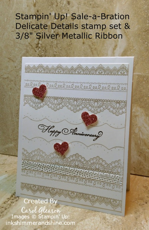 Lace Anniversary card