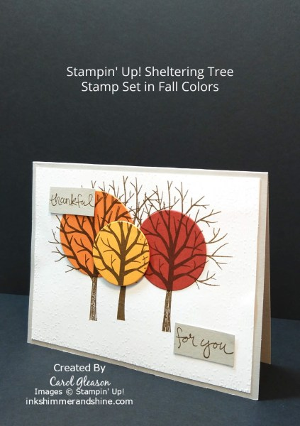 Thankful For You Fall Card with the Stampin' Up! Sheltering Tree stamp set