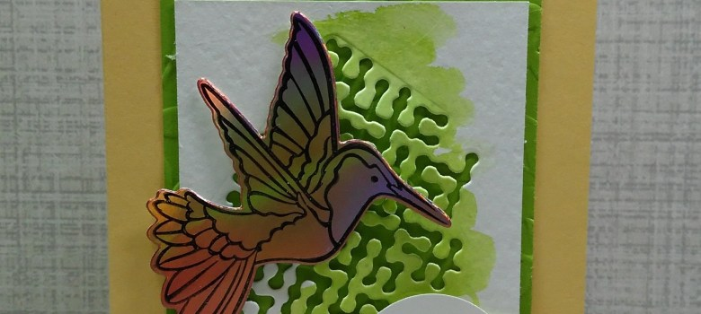 Humming Along stamp set with Hummingbird Framelits Dies