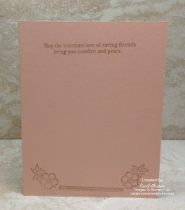 Lovely Lattice stamps and Lasting Lily sentiment for the inside of card.