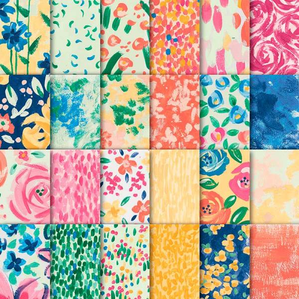 Bright patterns in the Stampin' Up! Garden Impressions paper stack. This gorgeous paper is only available while supply lasts!