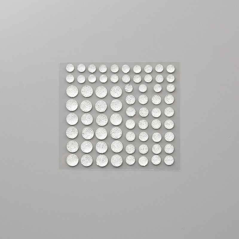 Clear Adhesive Gems in 3 sizes, 72 total