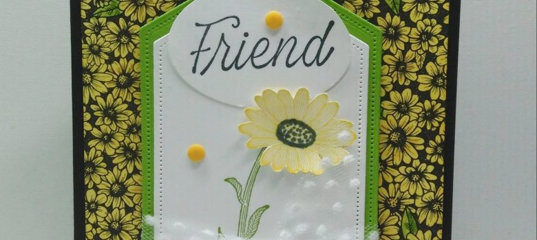 It's Not Too Late for True Love Friend card. Features the True Love Designer Series Paper colored with ink pads and Stampin' Blends.
