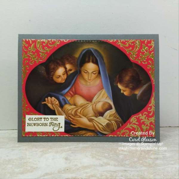 Repurposing Christmas Cards with a religious theme - example.