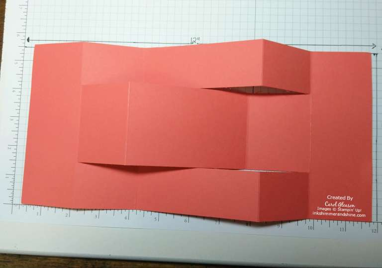Trifold Shutter Card showing completed folds.