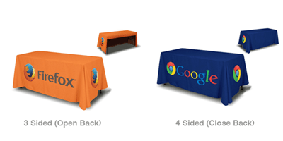 firefox table throw, google table throw