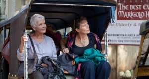Dame Judi Dench as Evelyn Greenslade and Celia Imrie as Madge Hardcastle in 'The Best Exotic Marigold Hotel'